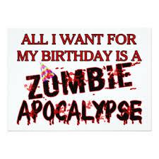 zombie birthday cards u0026 invitations zazzle com au