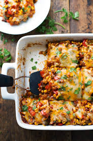 Take It Easy Mexican Meme - healthy mexican casserole with roasted corn and peppers pinch of yum