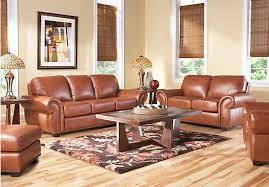 balencia light brown leather 2 pc living room leather living