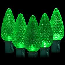 led green lights 50 c9 faceted led bulbs 8 spacing