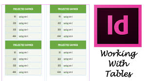 indesign tutorials for beginners cs6 adobe indesign cs6 tutorial working with tables youtube