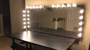 Vanity Light Bar Ikea by How To Build Quick Diy Vanity Table Using Ikea Parts Youtube