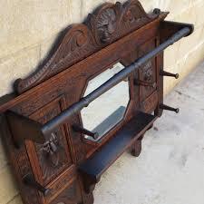 carved antique wall mirror antique coat rack antique hat rack