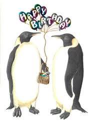 Penguin Birthday Meme - paula skene penguin happy birthday card happy birthday cards