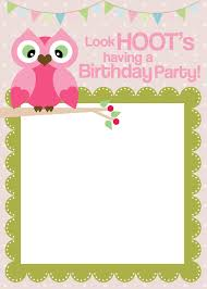 Invitation Cards For Birthday Party Template Owl Birthday Cards To Print For Free Click On The Free Printable