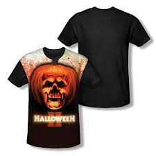 ii pumpkin skull all over t shirt