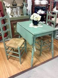 Wood Drop Leaf Table Vintage Drop Leaf Table With Green Color Table And Racks And