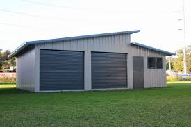 skillion roof we would only have 1 roller door and a pa door