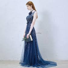 robe de mariã e bleue robe de soirée originale princesse longue pour mariage en dentelle
