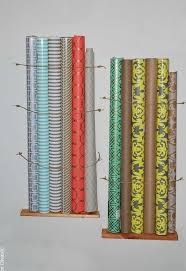 space saving gift wrap storage hometalk