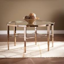 southern enterprises nellie faux travertine and matte brass coffee
