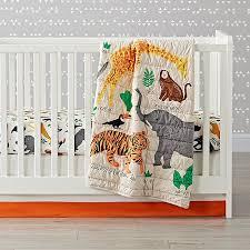 applique jungle animal crib bedding the land of nod