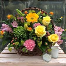 basket of flowers basket of blissful blooms bn6 in glenside pa s flowers