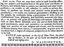 november 26 1789 thanksgiving the american catholic
