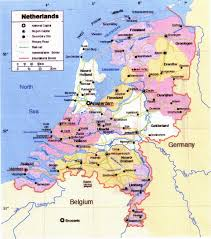 Map Netherlands Large Political And Administrative Map Of Netherlands
