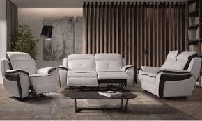 ensemble de canapé ensemble canapé de relaxation 1 et 3 places électrique cuir banc et