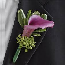 calla boutonniere 1 800 flowers purple elegance boutonniere mini calla
