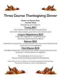 thanksgiving menu thanksgiving reservations