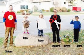 Rock Paper Scissors Halloween Costume Ultimate Big Bang Theory Family Rocked Halloween