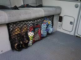 bench seat cargo net gowesty van life pinterest cargo net