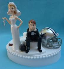 cowboy cake topper wedset sports team wedding cake toppers bridal