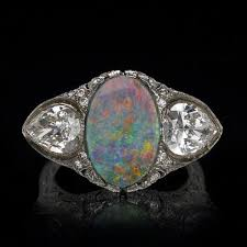 opal rings jewelry images Tiffany co antique diamond opal ring jpg
