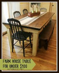 Diy Farmhouse Dining Room Table Remodelaholic Build A Farmhouse Table For 100