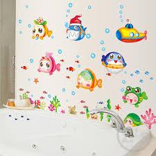 Bathroom For Kids - aliexpress com buy nemo fish sea cartoon wall sticker for shower