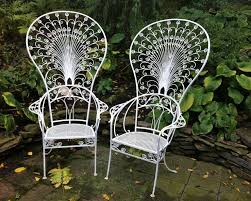 Wrought Iron Chairs For Sale Vintage Salterini Peacock Chairs For Sale At 1stdibs