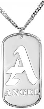 customizable jewelry alison personalized dog tag necklace 42x21mm