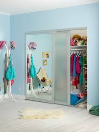 Small Bedroom Sliding Wardrobes Furniture Mirrored Wardrope Sliding Door Plus Stand Lamp And