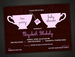 baby shower tea party invitations cloveranddot com