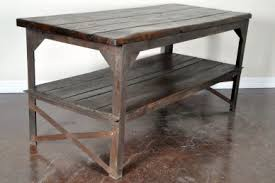 vintage kitchen work table antique industrial french wood and iron work table great as kitchen