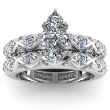 marquise cut wedding set marquise cut pave engagement ring wedding set