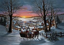 amazon com sleigh ride christmas cards set of 15 greeting