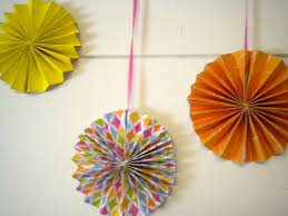 hanging paper fans paper fan banner tutorial my girlish whims