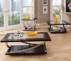 Living Room Glass Table Standard Furniture Melrose Square End Table With Glass Table Top