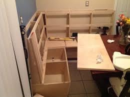 kitchen table with storage bench greathouseplanstk ideas ana white