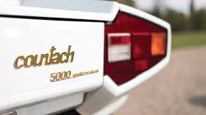 lamborghini badge for sale gold plated lamborghini countach going up for auction
