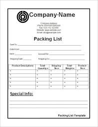 Packing List Template Excel 14 Packing List Templates Word Excel Pdf Formats