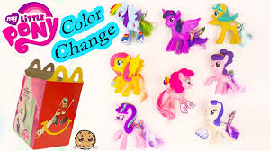 color of happy mlp color change my little pony mcdonalds happy meal 8 set toys 2016