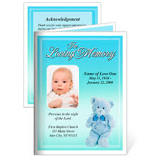 Funeral Card Template Nursery Boy Funeral Card Template With Preprinted Title