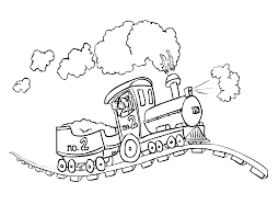 train coloring pages printable eson