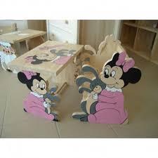 bureau bébé bureau bébé minnie en bois massif artisanal français