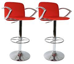 White And Red Kitchen Ideas Furniture Red Bar Stools With White Ceramic Floor And Small