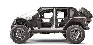 wrangler jeep 4 door black fab fours rear full tube doors for 07 17 jeep wrangler unlimited