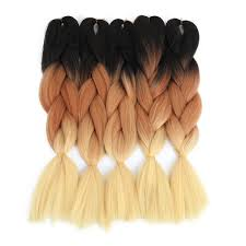 ombre kanekalon braiding hair dual tone braiding hair extension braids n more