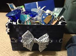 engagement gift basket engagement party gift basket psu themed thick chic tricks