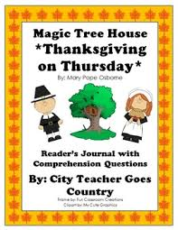 magic tree house 27 thanksgiving on thursday journal