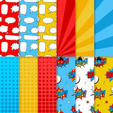 comic wrapping paper digital paper comic book background speech bubbles